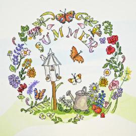 Borduurpakket Amanda Loverseed - Summer Time - Bothy Threads    bt-xal04