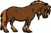 HKM Mode Applic. Paard donkerbruin