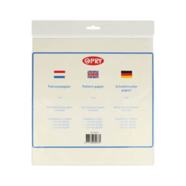OPRY Patroonpapier / 1M2 / Transparant