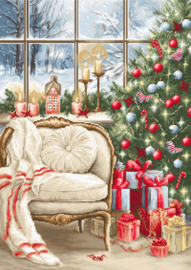 Petit Point borduurpakket Christmas Interior Design - Luca-S    ls-g599
