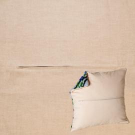 Kussenrug 45 x 45 cm Linen Grey - Duftin    d-backs150