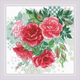 Borduurpakket Red Rose Hip - RIOLIS    ri-1916