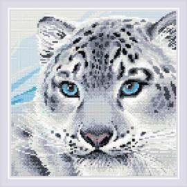Diamond Mosaic Snow Leopard - RIOLIS    ri-am0040