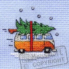 Borduurpakket Camper Van Collecting the Tree - Mouseloft    ml-004-k32