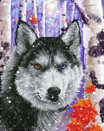 Diamond Dotz Forest Wolf - Needleart World    nw-dd10-040
