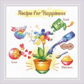 Borduurpakket Recipe for Happiness - RIOLIS    ri-1920