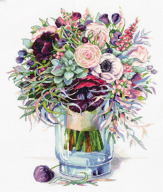 Borduurpakket Bouquet with Anemones - PANNA    pan-7159-c