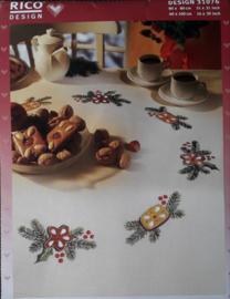 RICO Design Beige Kerst Tafelloper / 31076