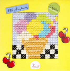 Borduurpakket My First Embroidery - Ice-cream - Luca-S    ls-x012