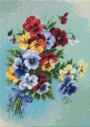 Diamond Mosaic Pansy Medley - RIOLIS    ri-am0016