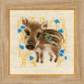 Borduurpakket Little Boar - RIOLIS / Mannetjes Varken  ri-1756
