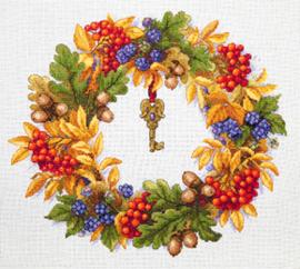 Borduurpakket Autumn Wreath - Merejka    mer-k099