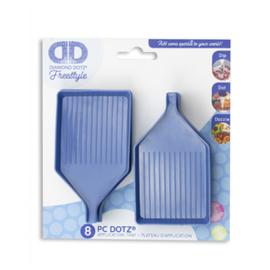 Diamond Dotz Blauwe sorteerbakjes met schenktuit - 8 stuks - Needleart World    nw-dda-031