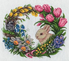 Borduurpakket Spring Wreath - PANNA    pan-1787-ps