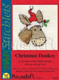 Borduurpakket Christmas Donkey - Mouseloft    ml-004-l34