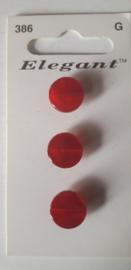 Knopen Elegant rood (386)