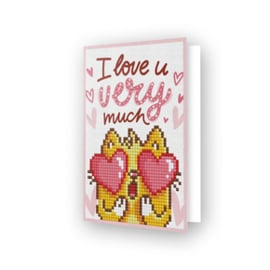 Diamond Dotz Greeting Card Love You - Needleart World    nw-ddg-002