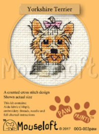 Borduurpakket Yorkshire Terrier - Mouseloft    ml-00g-003