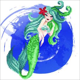 Diamond Art Mermaid - Leisure Arts    la-da02-51150