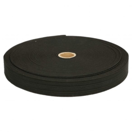 Bandelastiek van zachte kwaliteit / Zwart / 30 mm breed