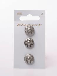 Knopen Elegant - Zilver / 676