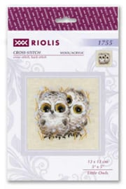 Borduurpakket Little Owls - RIOLIS / Kleine Uilen