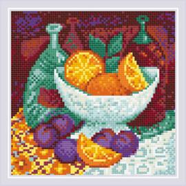 Diamond Mosaic Oranges - RIOLIS    ri-am0034
