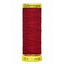 Rimpelelastiek rood / 2063