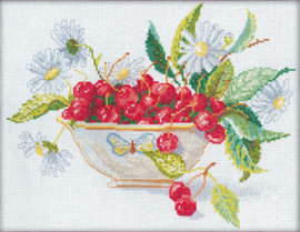 Borduurpakket Cherries in a bowl - RTO    rto-m00003