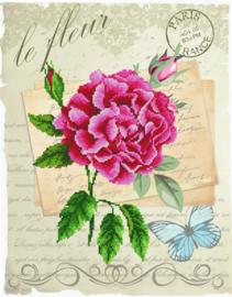 Voorbedrukt borduurpakket Rose Bloom - Needleart World    nw-nc650-028