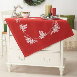 Tissu de Marie / Rood Kerstkleed met kaarsen