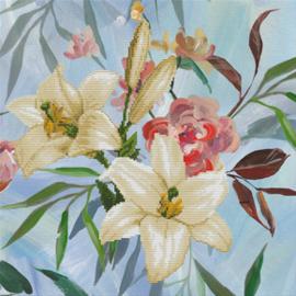 Voorbedrukt borduurpakket Wild Lilly Bouquet - Needleart World    nw-nc650-035