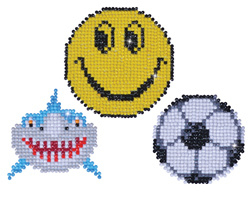 Diamond Dotz 3 Stickers Multi Pack - Smile - Needleart World    nw-dd40-004