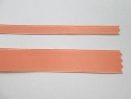 Satijnlint satin double face Deluxe  6 mm en 16 mm zalm 301