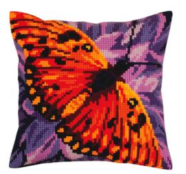 Kussen borduurpakket Butterfly - Collection d'Art    cda-5307
