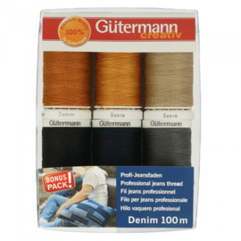 Set van 6 stuks Gutermann Naaigarenset DENIM  / 731144
