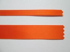 Satijnlint satin double face Deluxe  6 mm en 16 mm oranje 39