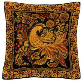 Borduurpakket Cushion/Panel Khokhloma Painting - RIOLIS Kussen  ri-1758