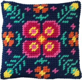 Kussen borduurpakket Fern Mandala - Needleart World   nw-lh03-011
