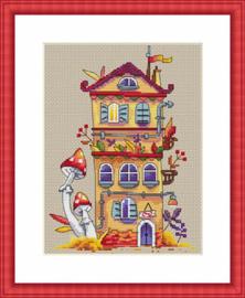 Borduurpakket Autumn House - Merejka    mer-k054