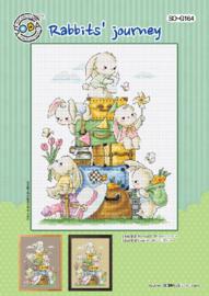 Borduurpatroon Rabbits' journey - Soda Stitch    so-g164