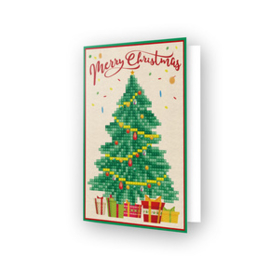 Diamond Dotz Greeting Card Merry Christmas Tree - Needleart World    nw-ddg-014
