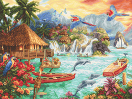Borduurpakket Island Life - Leti Stitch    leti-0925