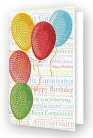 Diamond Dotz Greeting Card Balloons on High - Needleart World   nw-ddg-033