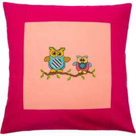 Pillow 40 x 40cm Rose-Pink Counted X-Stitch - Duftin    d-0570019714