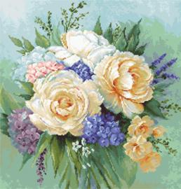 Petit Point borduurpakket Floral Bouquet - Luca-S    ls-g600