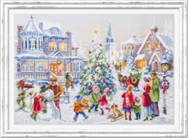 Borduurpakket Christmas Eve - Chudo Igla    ci-100-250