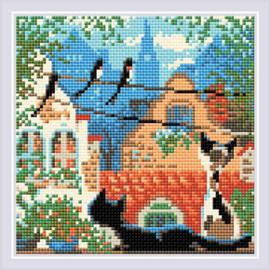Diamond Mosaic City & Cats Summer - RIOLIS    ri-am0048
