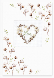 Borduurpakket Postcard - Love Cotton - Luca-S    ls-sp090