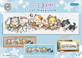 Borduurpatroon Cat Playground - Soda Stitch    so-g171